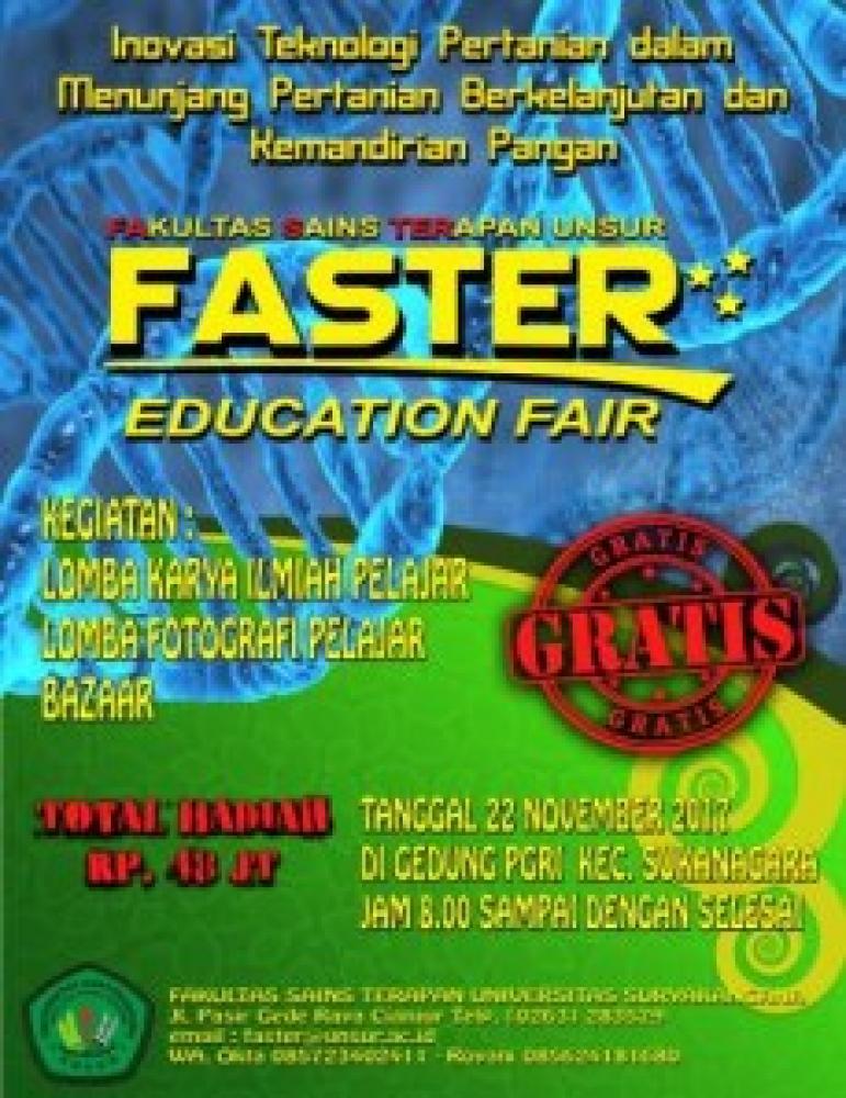 FASTER EDUCATION FAIR