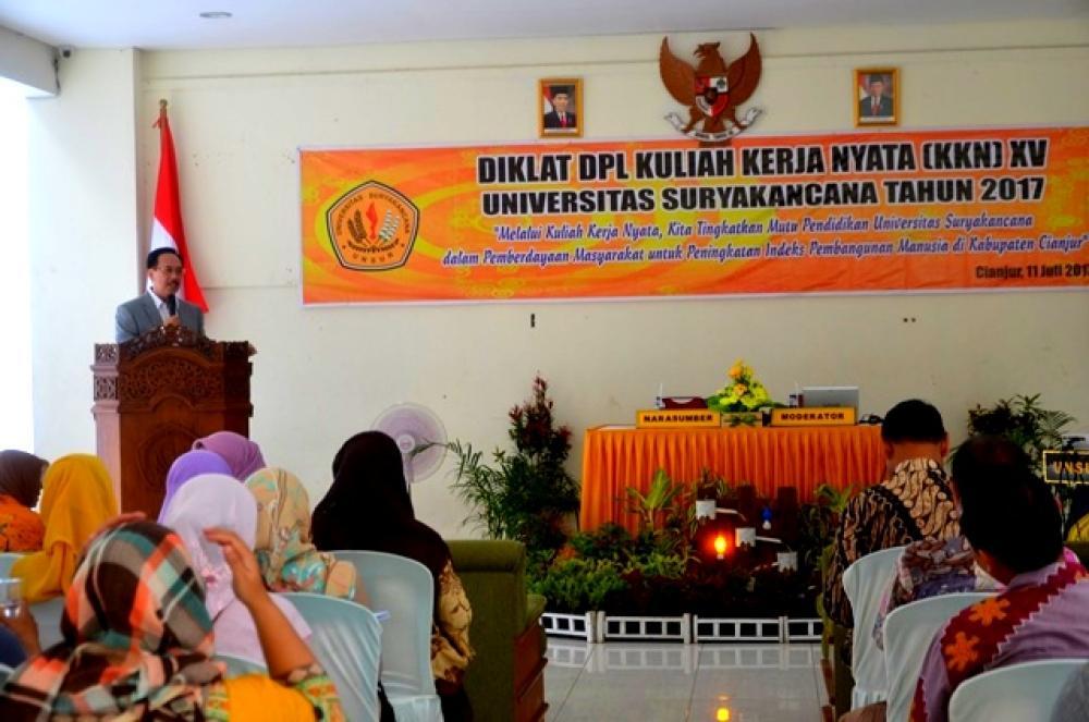 Diklat DPL Kuliah Kerja Nyata KKN XV  Universitas Suryakancana Tahun 2017