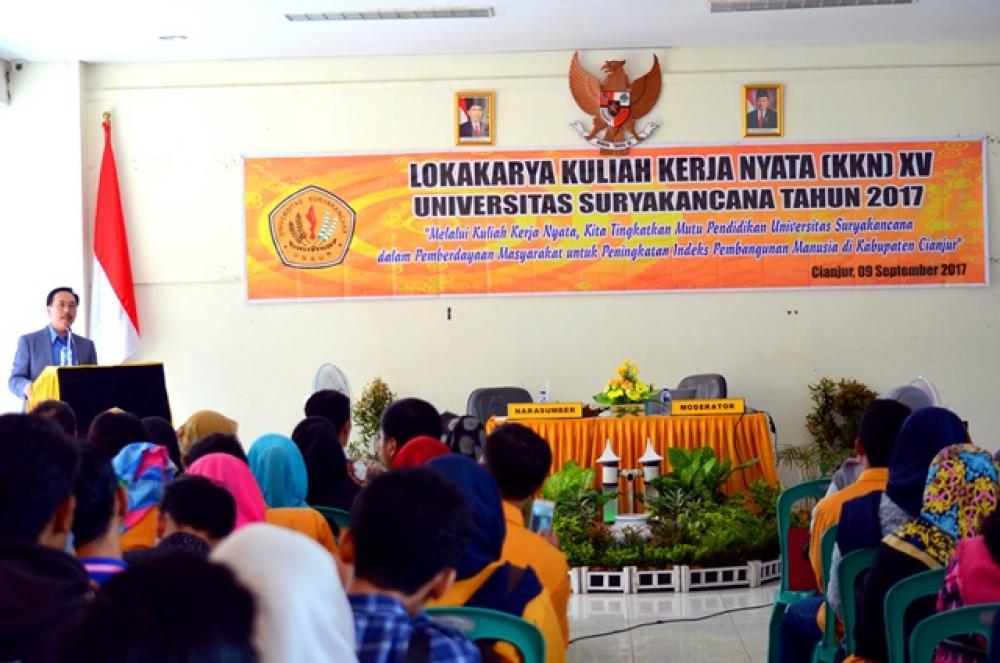 Lokakarya kuliah Kerja Nyata KKN XV Universitas Suryakancana  Tahun 2017